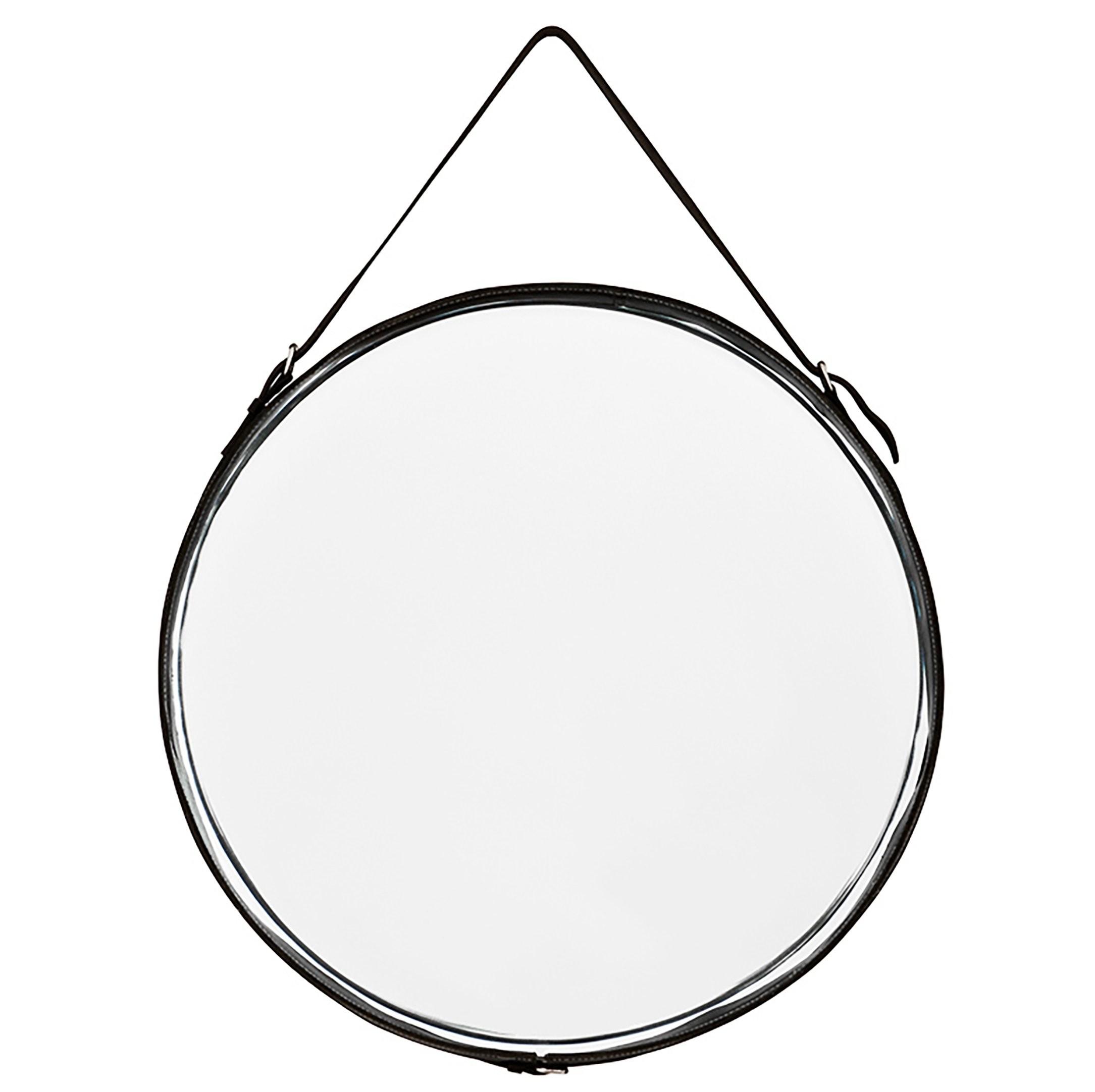 2169x2164 Puck Black Leather Mirror Shop Now
