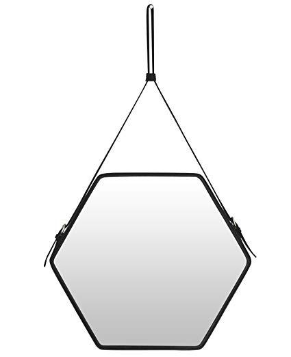 425x522 Ms Box Pu Leather Decorative Hanging Wall Mirror,strap