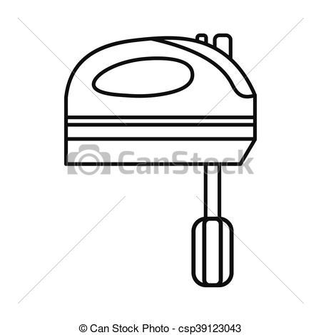 450x470 kitchen mixer icon, outline style kitchen mixer icon in outline