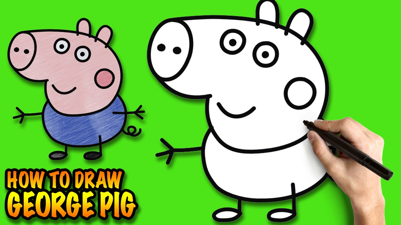 1280x720 How To Draw George Pig