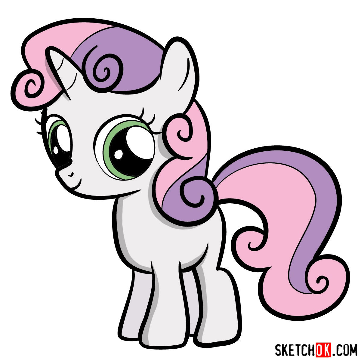 1200x1200 How To Draw Sweetie Belle Mlp