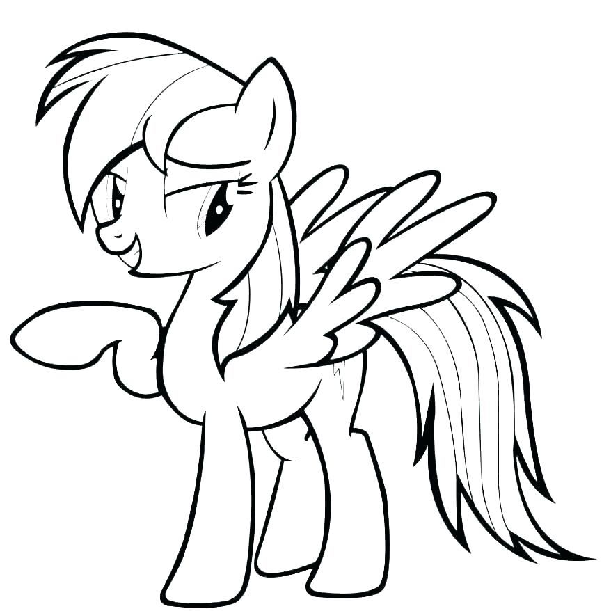 Mlp Rainbow Dash Drawing Free Download On Clipartmag