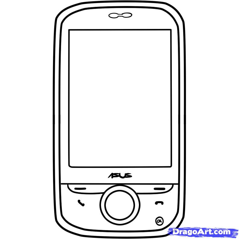 793x793 draw an android, android phone, step