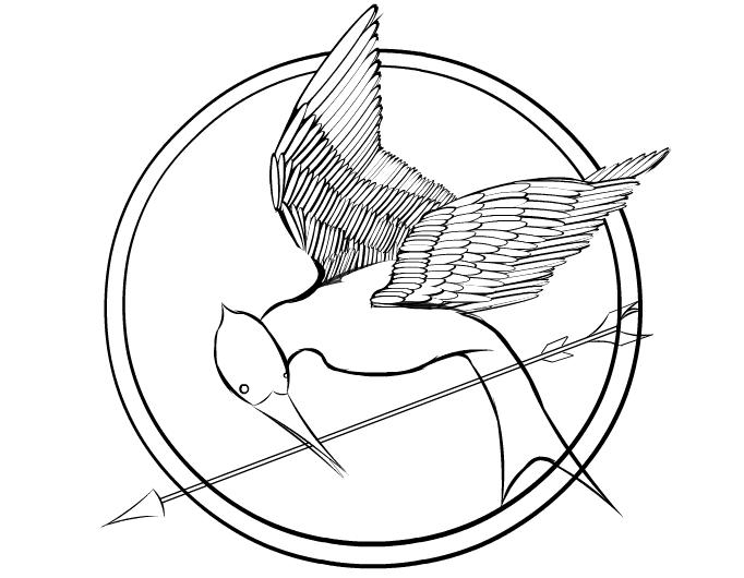 Mockingjay Pin Drawing
