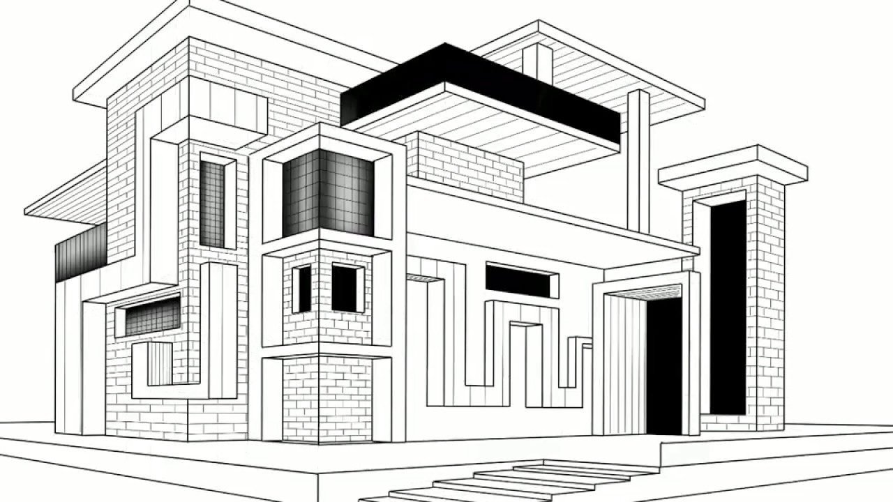 Modern Architecture Drawing Free Download Best Modern