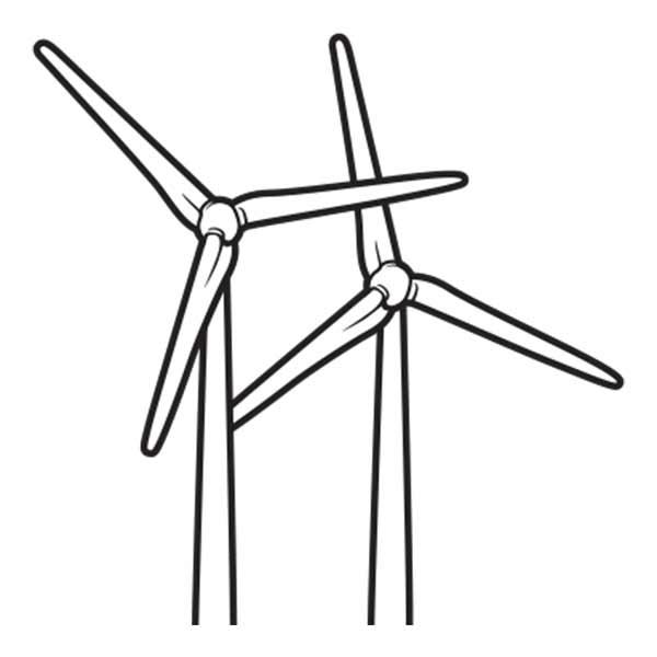 Modern Windmill Drawing