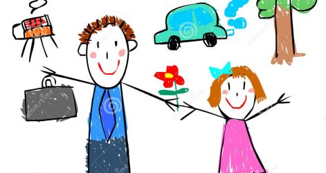 471x250 Dad Birthday Drawing Ideas Card Funny Mom Baby Easy American