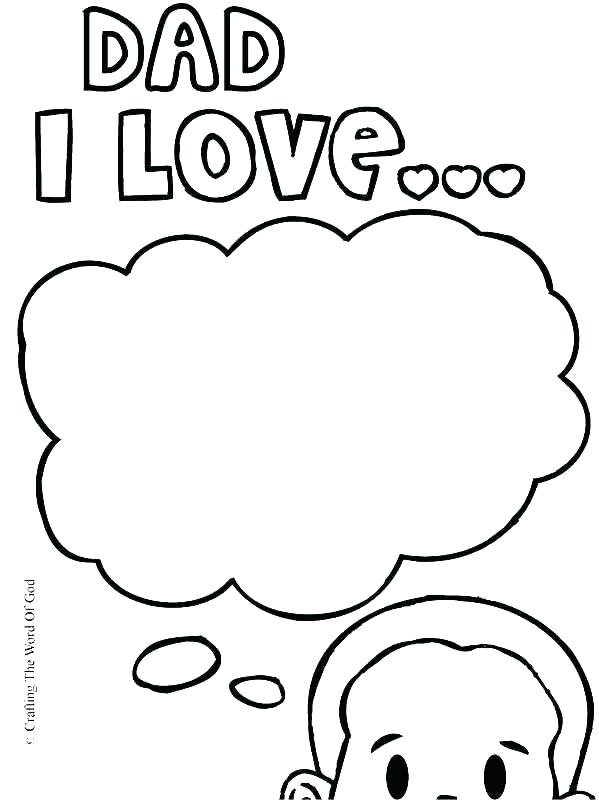 599x800 I Love My Dad Coloring Pages I Love You Daddy Coloring Pages I