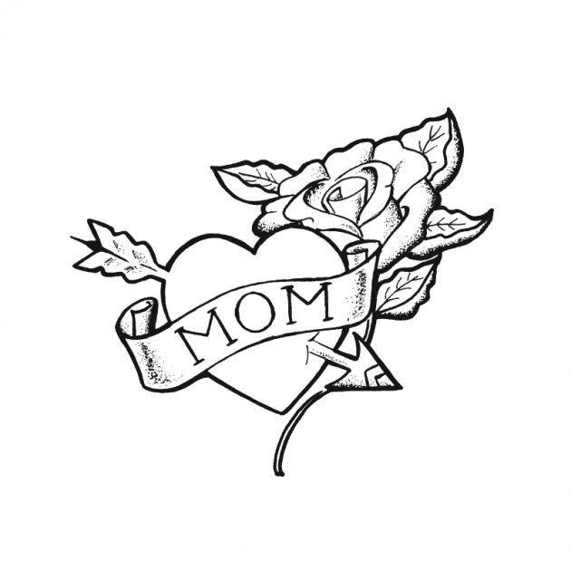 630x630 Mom Tattoo Heart Arrow Rose