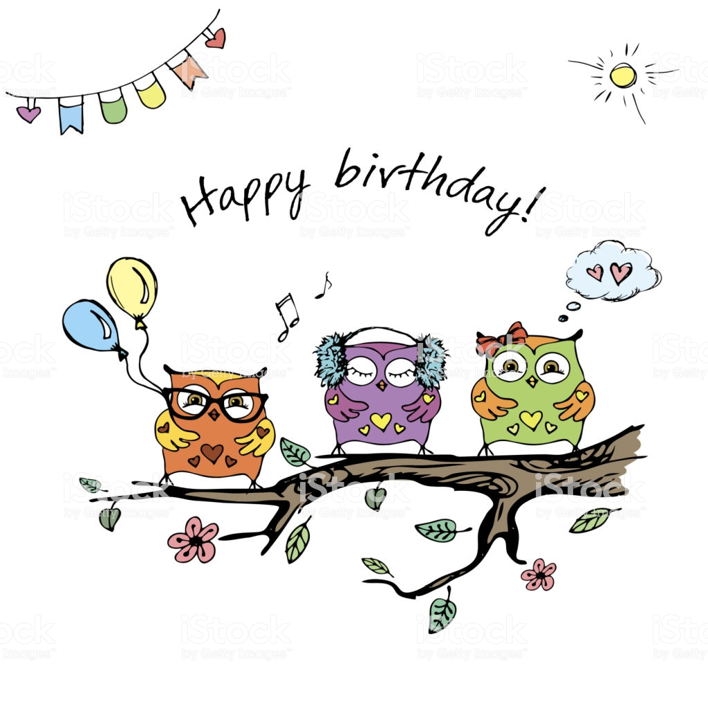 1024x1024 Birthday Card Drawing A For Mom Video Bird Envelopes Design Happy