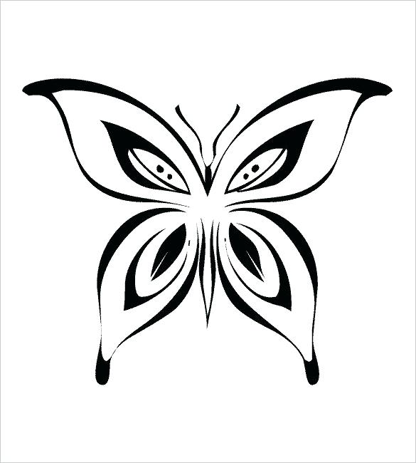 585x650 Monarch Butterfly Outline Wing Pattern Black And White Template