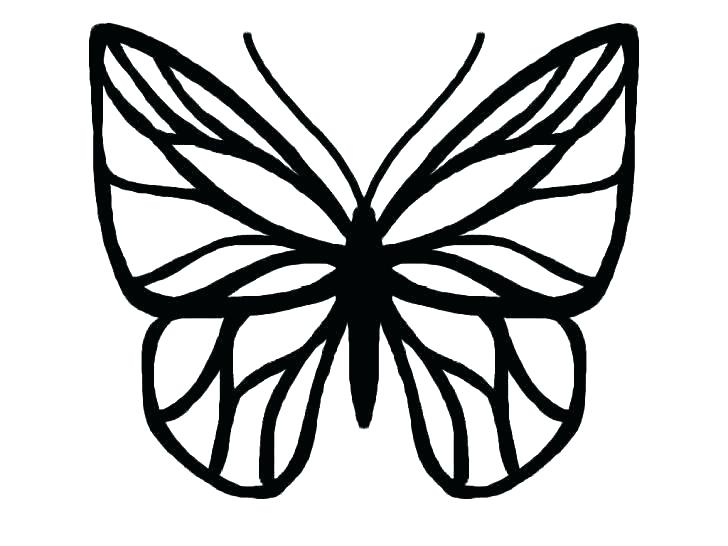 728x546 Monarch Butterfly Silhouette At Free For Personal Template Simple