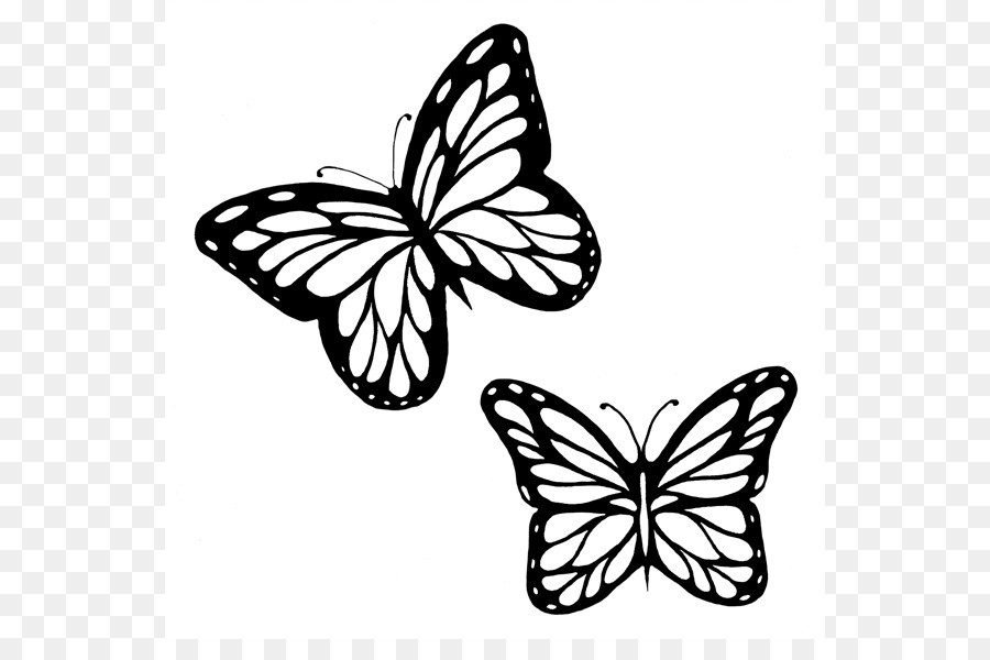 900x600 Butterflies Butterfly Clip Art Black And White Within