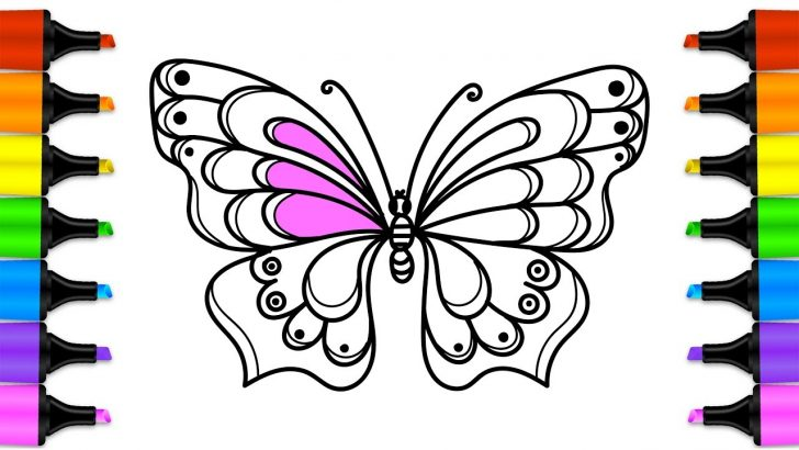 728x410 Cute Butterfly Drawing Easy And Flower Monarch Step