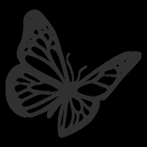 512x512 Monarch Butterfly Flying Silhouette