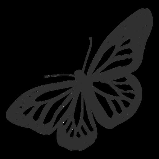 512x512 Monarch Butterfly Silhouette