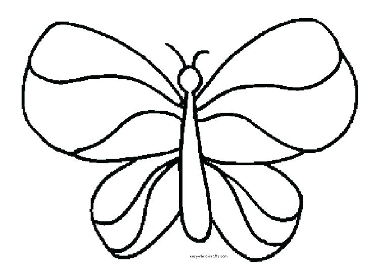 736x546 Butterfly Easy Drawing Free Kids Coloring Pages Butterflies Easy