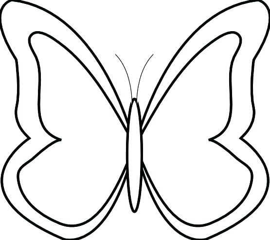 555x493 Collection Of Free Butterflies Clipart Line Drawing Download On Ui Ex