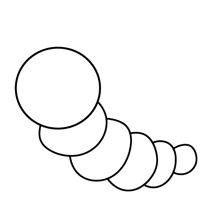 680x678 How To Draw A Cute Caterpillar
