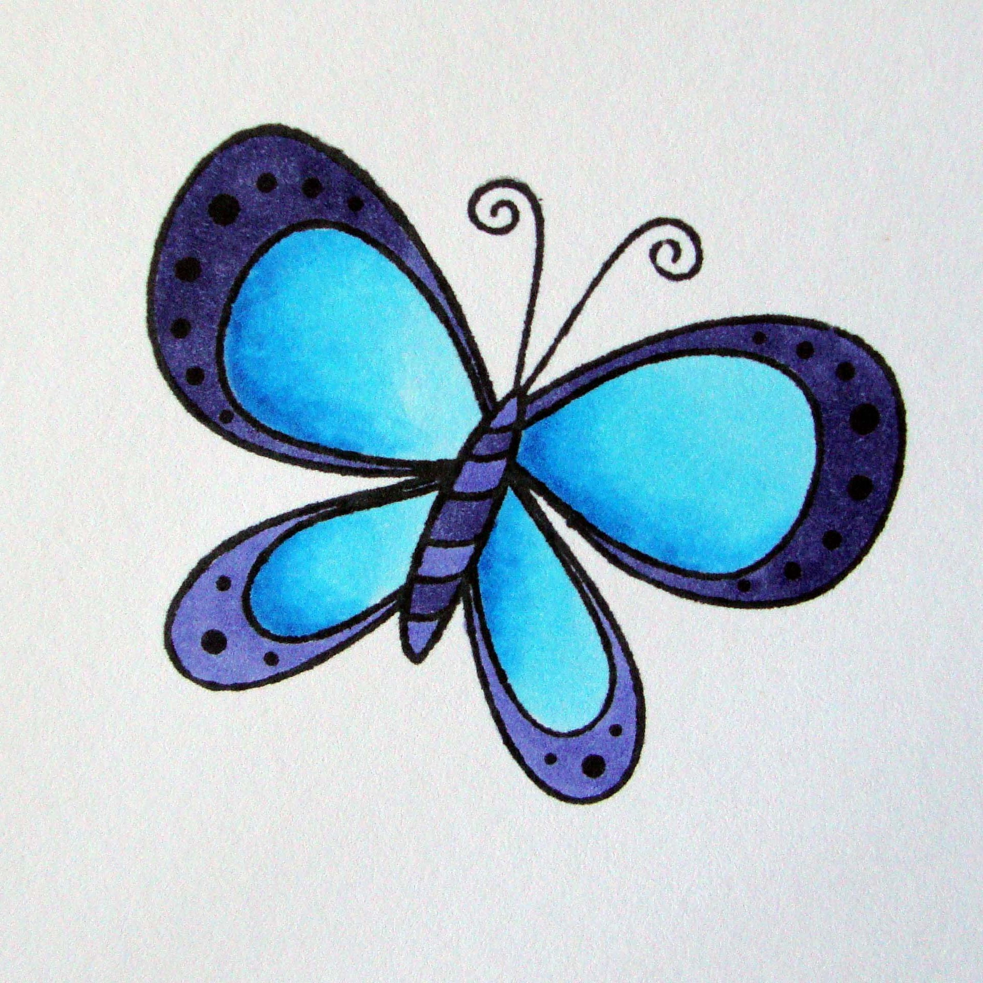 1930x1930 Full Color A Butterfly Free Monarch Drawing Download Clip Art
