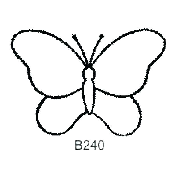 600x600 Monarch Butterfly Outline Drawing A Butterfly Butterflies Outline