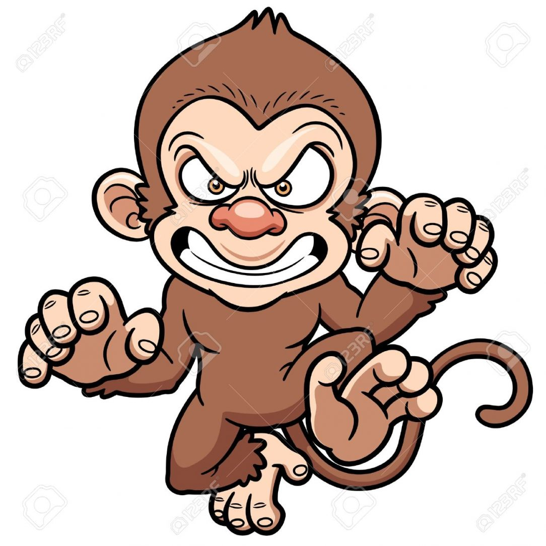 Monkey Cartoon Drawing