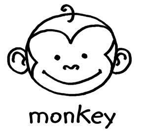 Monkey Drawing For Kids Free Download Best Monkey Drawing