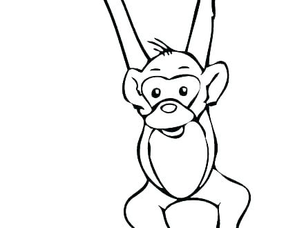 Monkey Hanging From Tree Drawing | Free download best Monkey ...