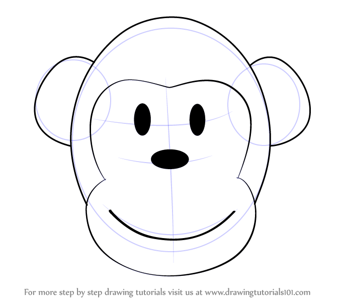 678x598 Easy Animal Faces Learn How To Draw A Monkey Cartoon Face Zoo
