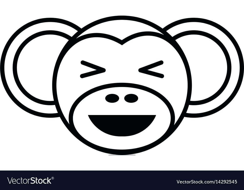 1000x780 How To Draw A Cartoon Monkey Face Steps With Pictures Outline