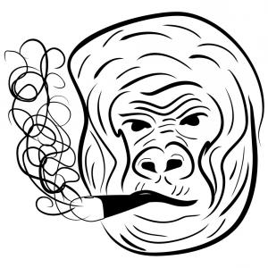 300x300 Top Vector Design Monkey Head Wearing Sunglasses Who Were Smoking