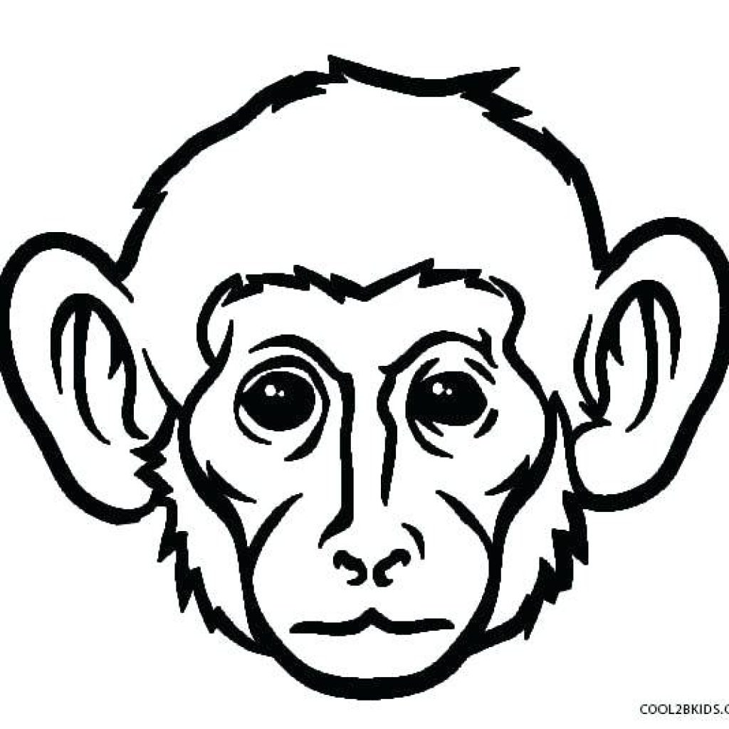 Monkey Line Drawing | Free download on ClipArtMag
