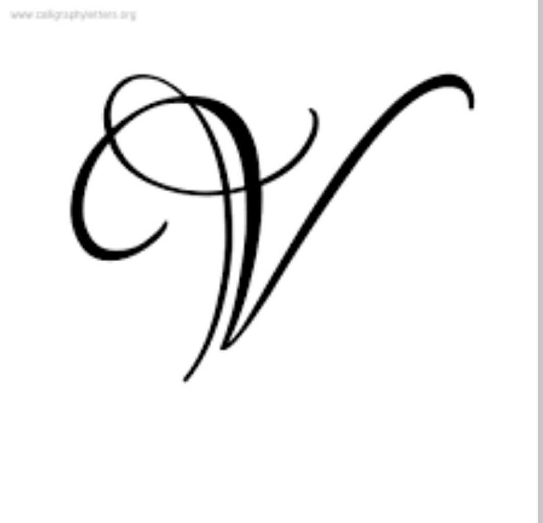 1062x1023 v letter calligraphy alphabet drawing, monogram alphabet