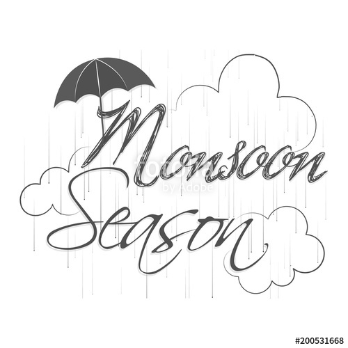 500x500 Nice And Beautiful Abstract, Banner Or Poster For Monsoon Season