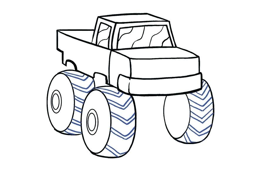 900x600 monster truck drawing monster truck monster truck drawing tutorial
