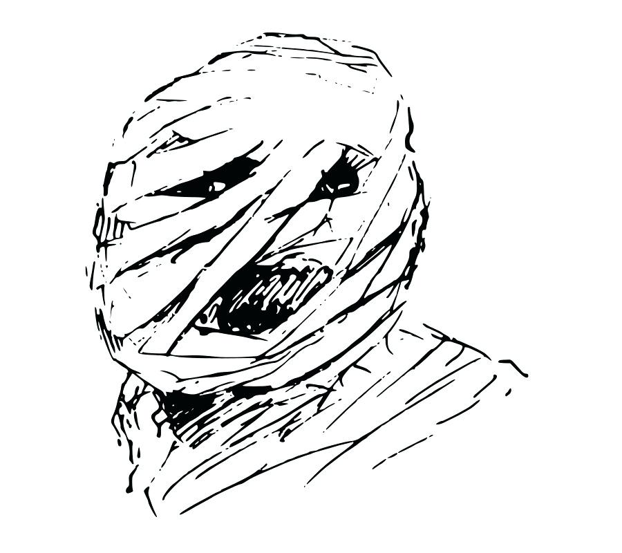 900x800 how to draw a mummy face drawing mummy home improvement store near