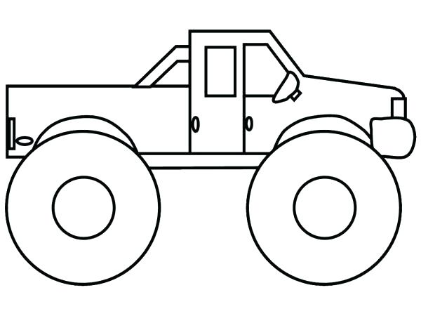 600x450 coloring pages draw a monster truck drawing monster jam truck