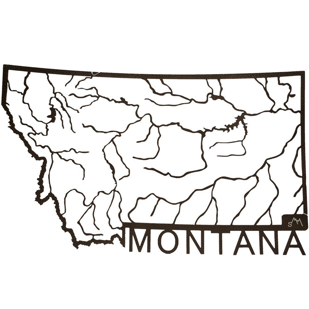 1000x1000 Montana Rivers Metal Wall Art