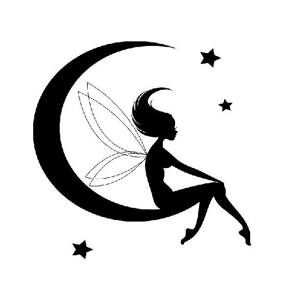 570x570 Moon Drawing Fairy For Free Download