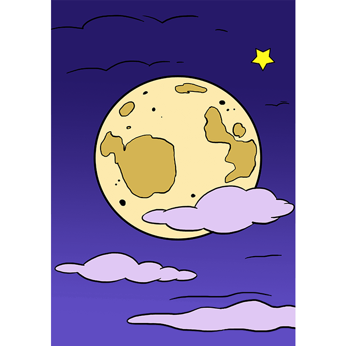 680x678 How To Draw The Moon Really Easy Drawing Tutorial