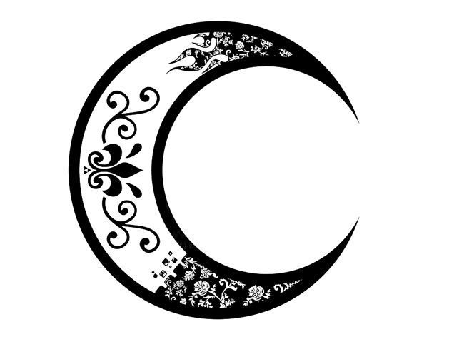650x500 Crescent Moon Drawing