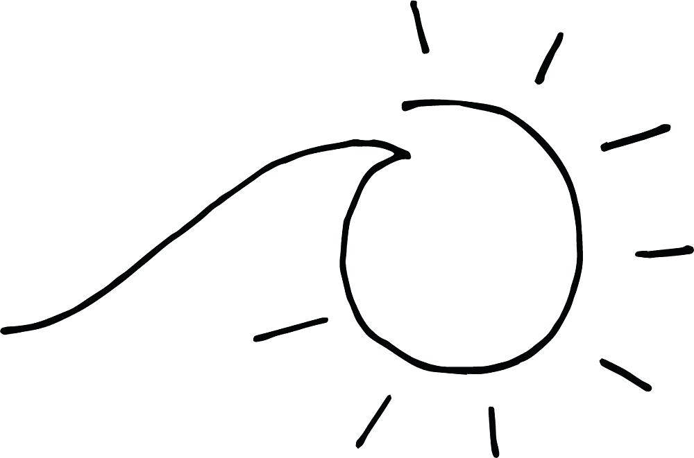 1000x661 Drawing A Sun Draw The Sun And The Moon Drawing Sunset Easy
