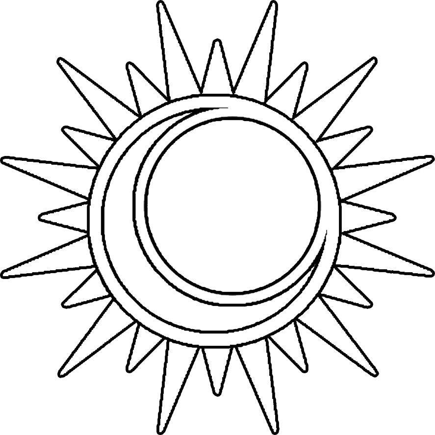887x887 Free Printable Moon Coloring Pages For Kids Coloring Pages Sun