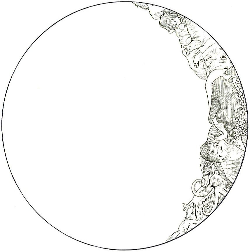 856x860 Huge Collection Of 'moon Line Drawing' Download More Than