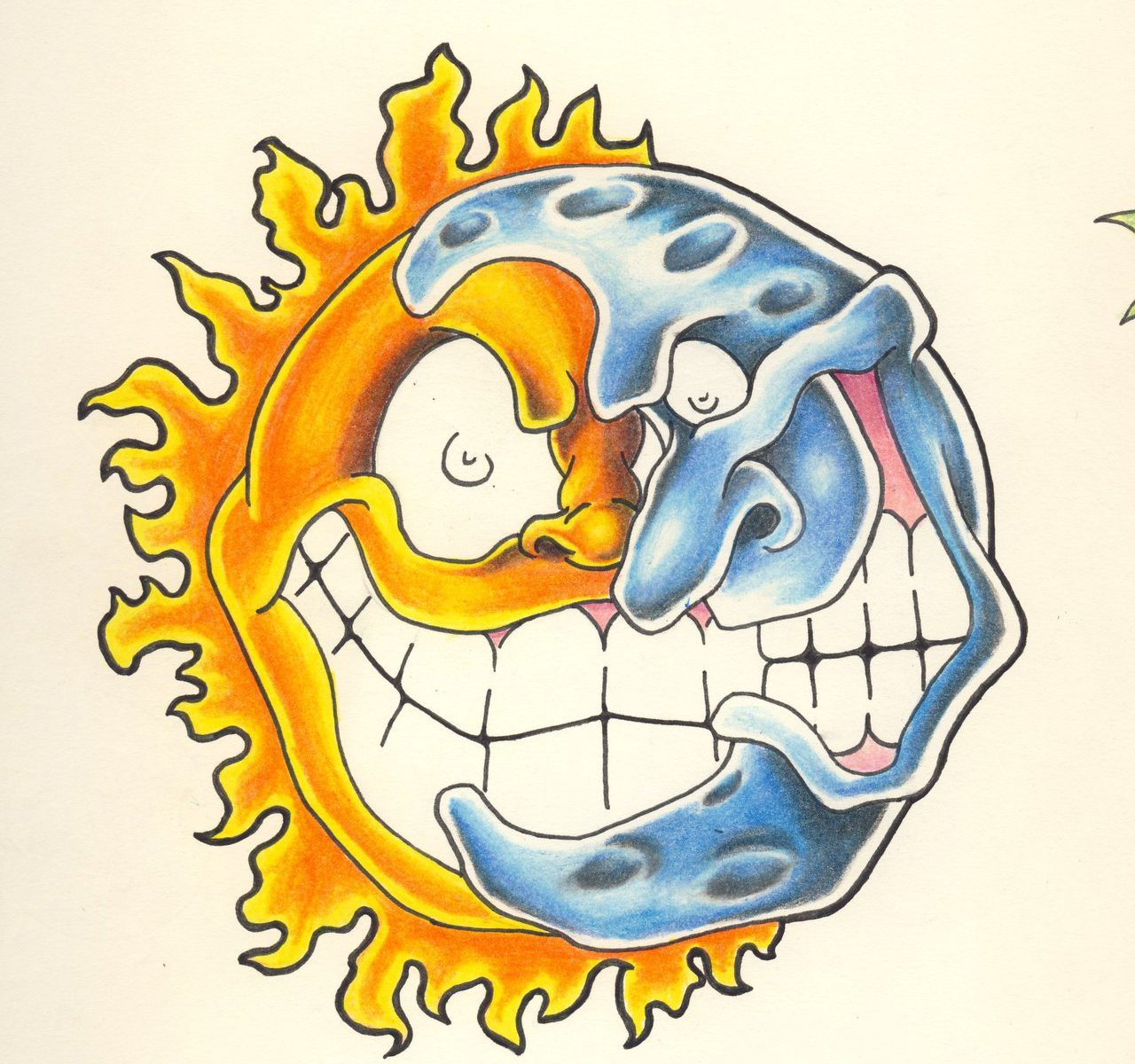 1280x1200 Trippy Sun And Moon Drawing Btte Me Drawings Impressive Coloring