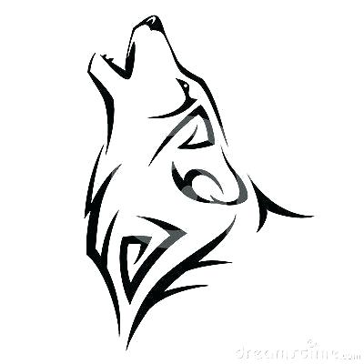 400x400 Wolf Drawing Easy Drawn Wolf Simple Wolf Head Howling Drawing Easy
