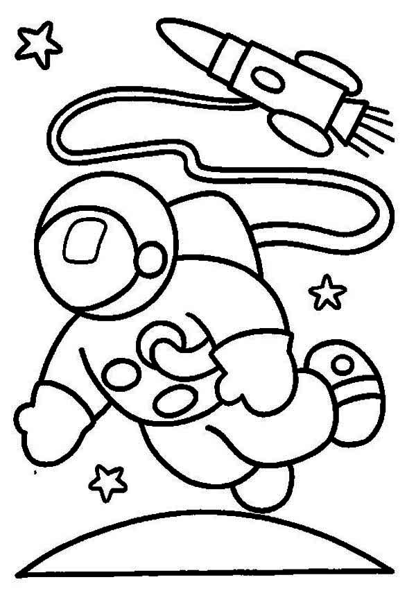 600x852 Astronaut Clipart Moon Drawing
