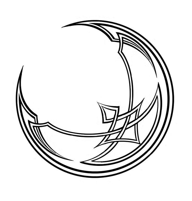 Moon Drawing Tattoo