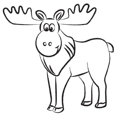 400x406 how to draw a moose in steps moose moose clipart, moose