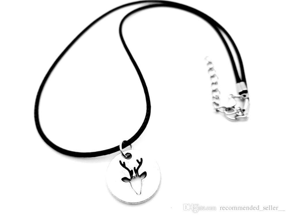 1000x750 origami love antler christmas deer horn antler necklace hollow